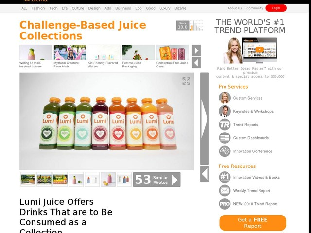 Challenge-Based Juice Collections - Lumi Juice Offers Drinks That are to Be Consumed as a Collection (TrendHunter.com)
