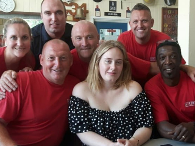 Adele Surprises Grenfell Tower Firefighters With Cake And Cuddles
