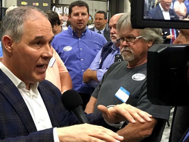 Coal industry supporters celebrate EPA repeal of Clean Power Plan