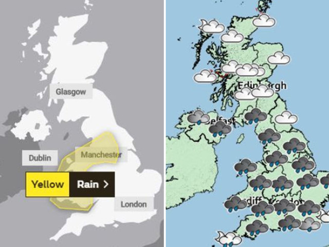 UK weather forecast – Britain faces weekend washout as Met Office fears heavy rain will flood homes and spark power cuts