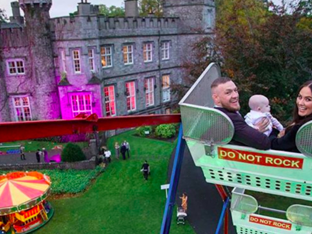Conor McGregor hosted an insanely extravagant party at an Irish castle for his son's christening — take a look