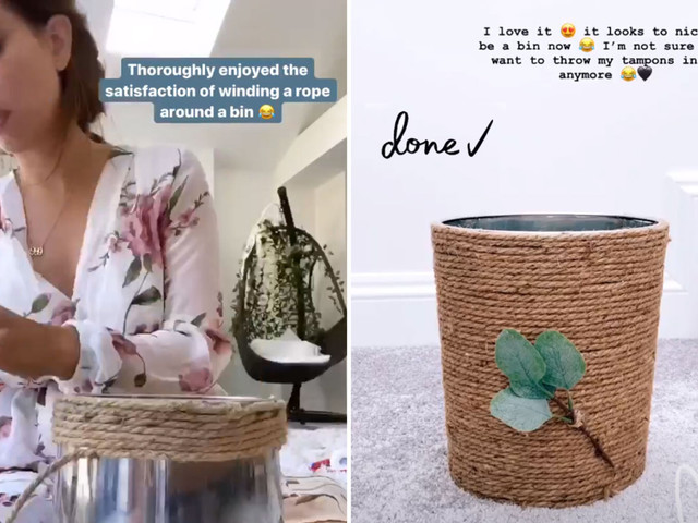 Stacey Solomon tells fans her bin is 'too nice to put tampons in' after revamping it with creative hack