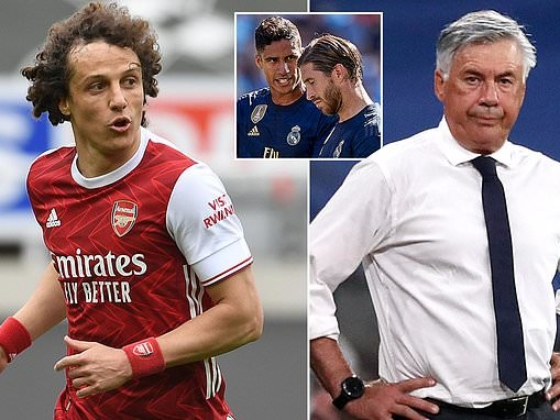 David Luiz 'was wanted by Real Madrid manager Carlo Ancelotti' after he left Arsenal
