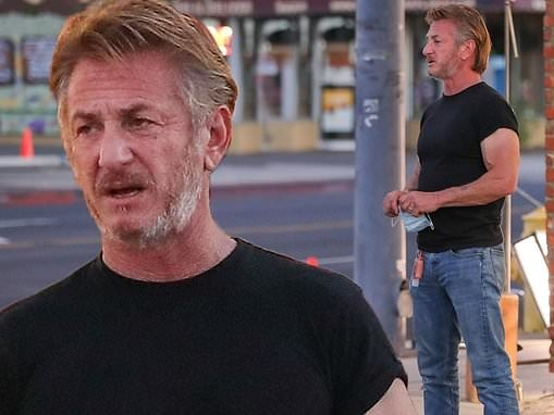 Sean Penn is seen on the set of '70s-era Paul Thomas Anderson film