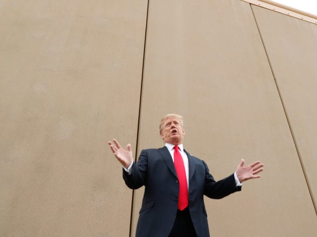 White House returns $2 billion from Trump's border wall to the military. The former president built 52 miles, at an average cost of $46 million per mile.