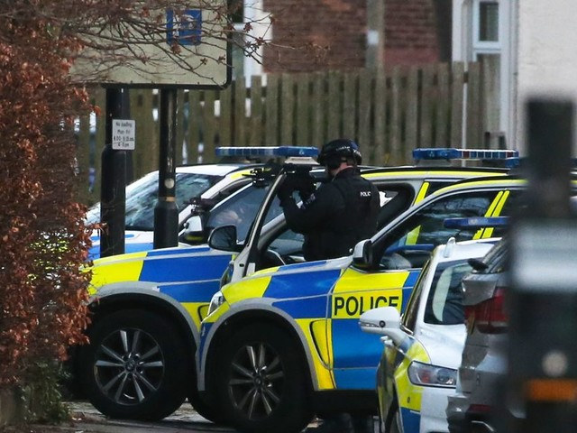 First footage from Jesmond as man locked in stand-off with armed police