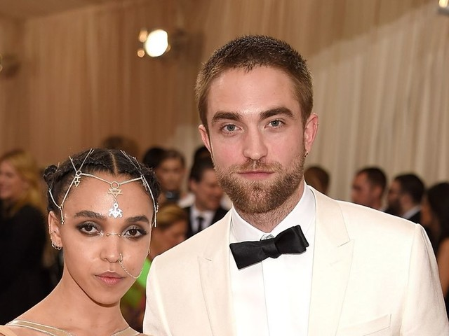 """Robert Pattinson reveals he's """"kind of"""" engaged to FKA Twigs after he's quizzed about relationship"""
