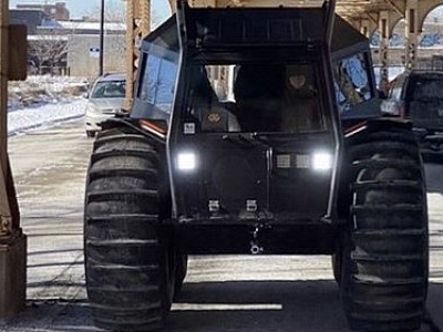 Kanye West Rolls Into Chicago in Fleet of Sherp ATVs to Hand Out Free Yeezies