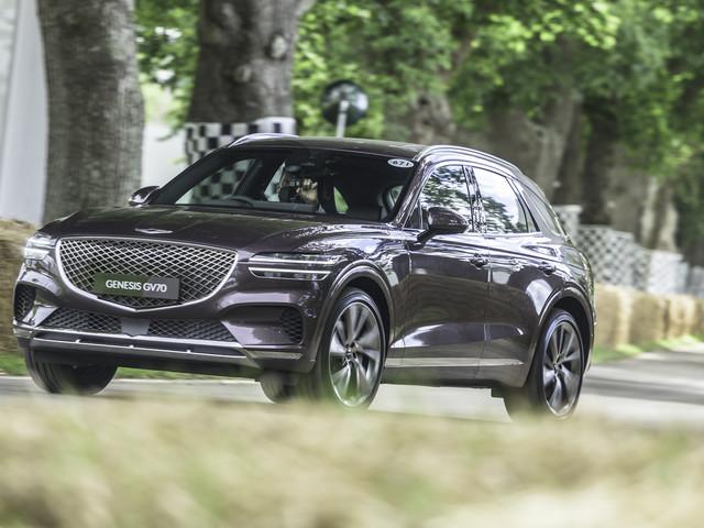 Genesis GV70 SUV receives UK debut at Goodwood