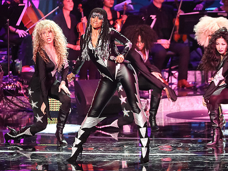 Ciara Sizzles In Black & Silver Catsuit During 'Motown 60' TV Special