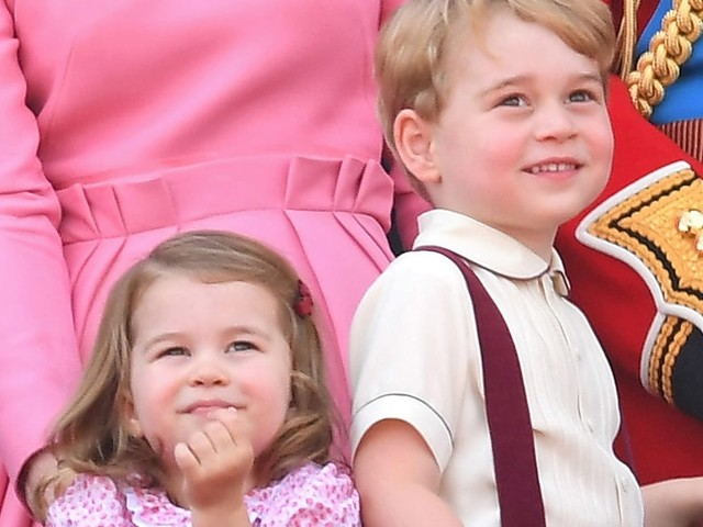 Prince George and Princess Charlotte Are Adorable at Trooping the Colour Parade