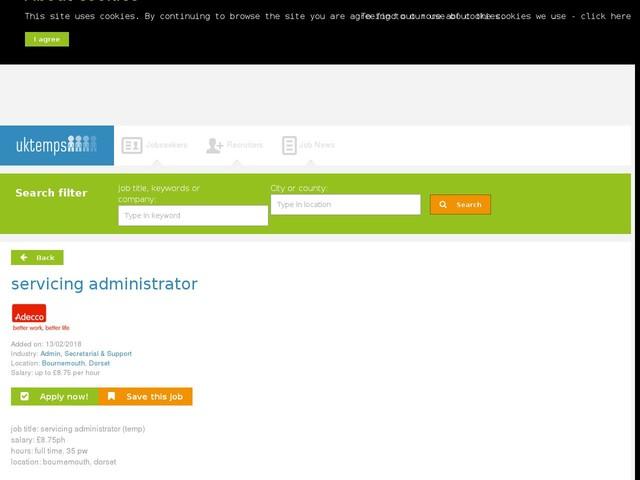 servicing administrator