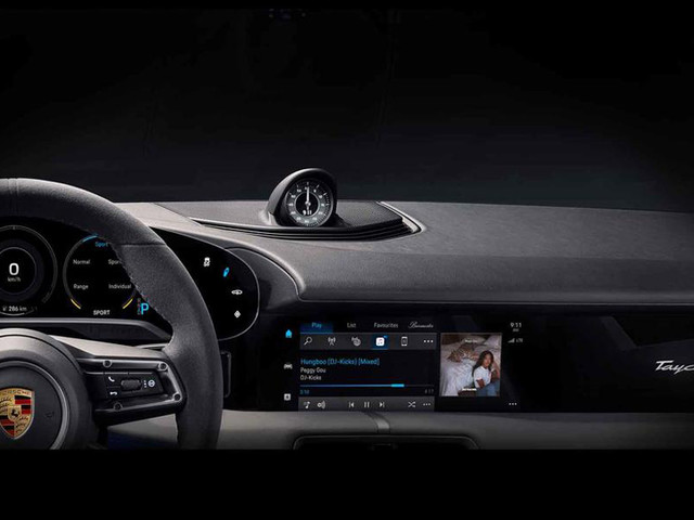 All-electric Porsche Taycan interiors teased