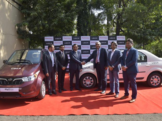 Mahindra ties-up with Uber for supplying EVs