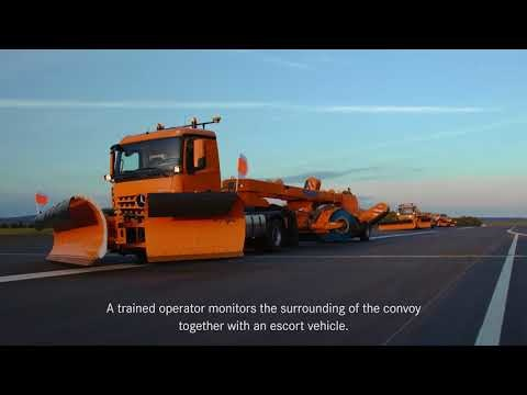 Daimler shows off what its automated Mercedes-Benz Arocs trucks can do
