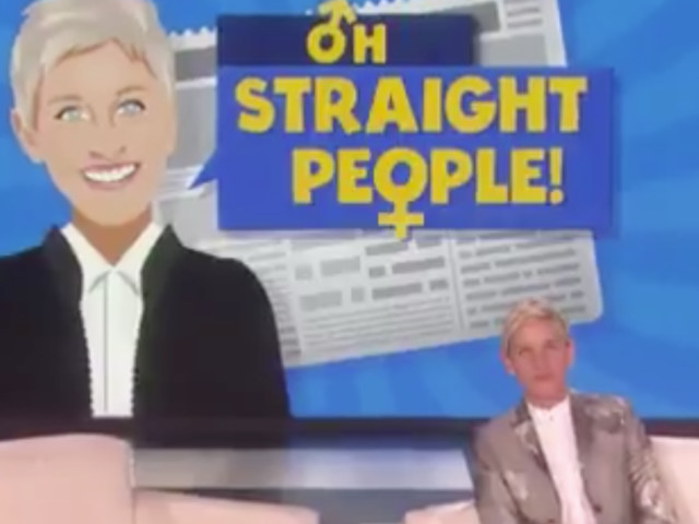 Ellen's New Segment Calls Out Straight People For Crazy Behavior