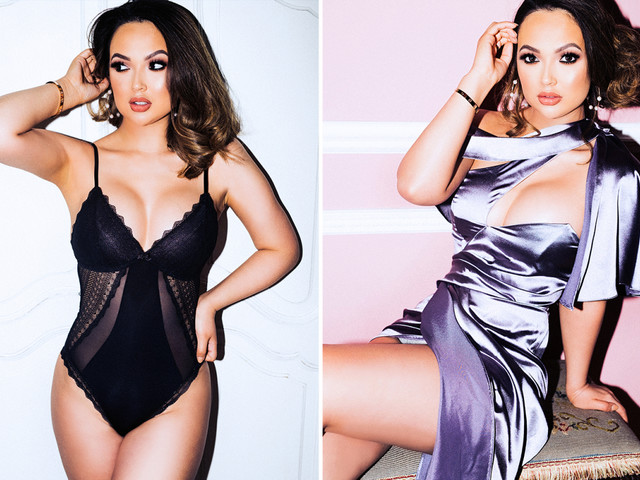 Love Island 2021 contestant Sharon Gaffka shows off her curves in a skimpy black basque