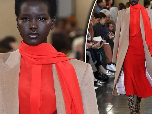 Adut Akech thanks Victoria Beckham after walking in her show at London Fashion Week
