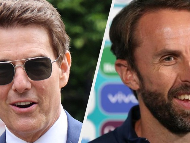England Team Receive Video Call From Tom Cruise – But Gareth Southgate Misses It For The Best Reason