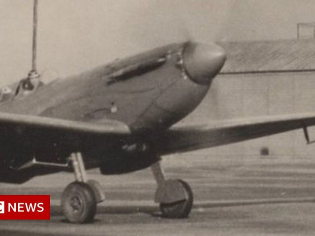 Tail of Spitfire shot down over Norway goes on display in Henley
