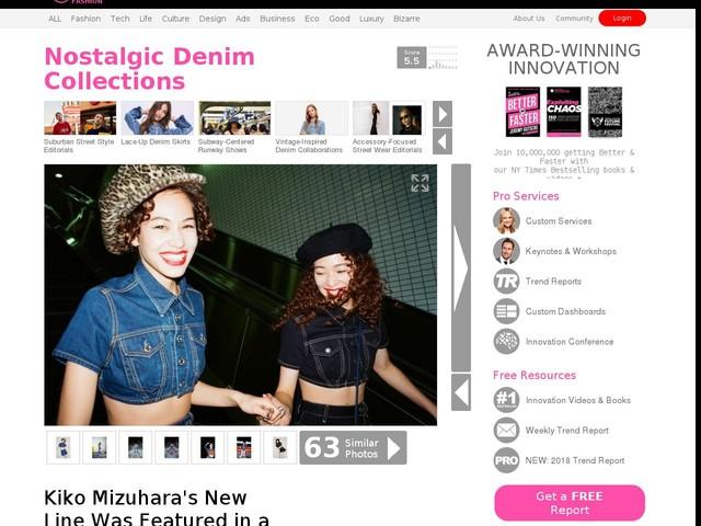 Nostalgic Denim Collections - Kiko Mizuhara's New Line Was Featured in a Harajuku-Shot Lookbook (TrendHunter.com)