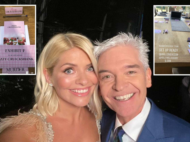 Holly Willoughby and Phillip Schofield reunite after half term break for Friday night party with their families online