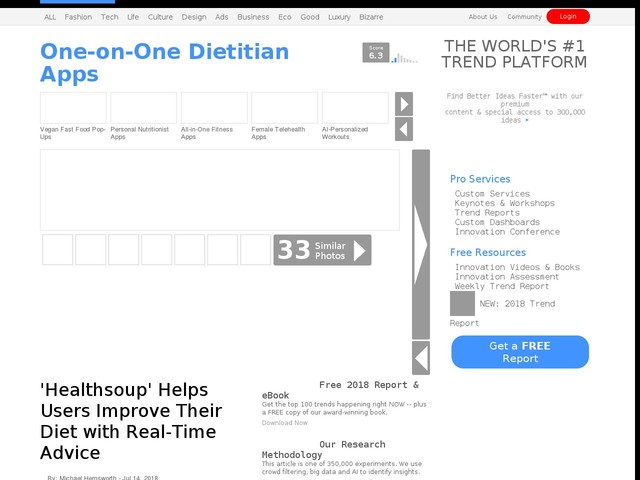 One-on-One Dietitian Apps - 'Healthsoup' Helps Users Improve Their Diet with Real-Time Advice (TrendHunter.com)