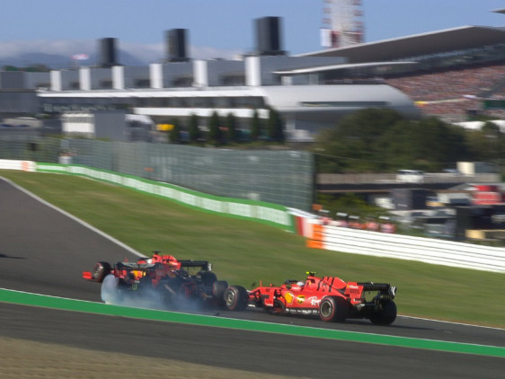Max Verstappen Furious After Charles Leclerc Takes Him Out in Suzuka