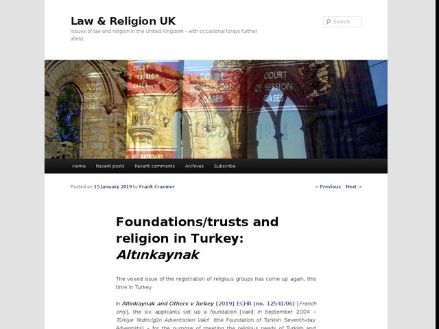 Foundations/trusts and religion in Turkey: Altınkaynak