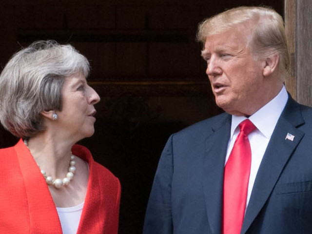 Donald Trump Arrives At Chequers To Talk Brexit With Theresa May