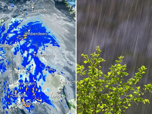 UK weather forecast – Torrential rain to lash Britain for two days after -7C big freeze
