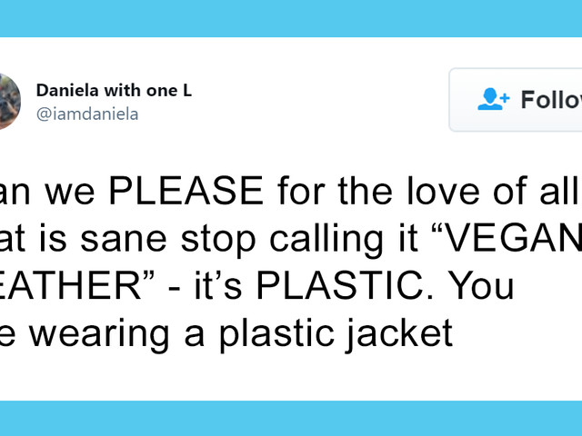 People Are Calling Out Those Who Say Wearing Wool Is Animal Cruelty But Plastic 'Vegan Leather' Is Okay