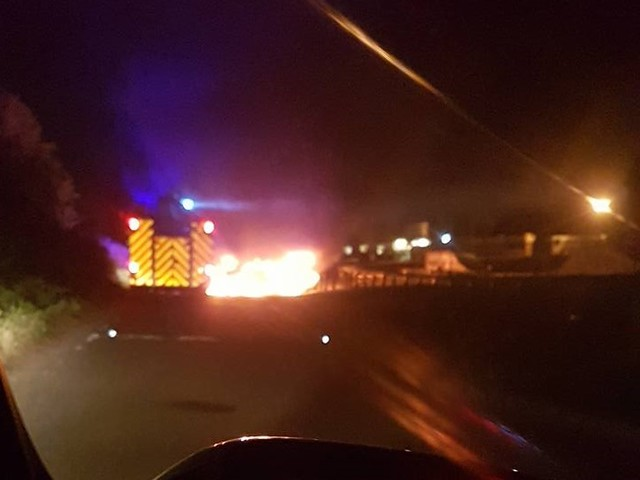 Car completely destroyed after being set on fire and dumped
