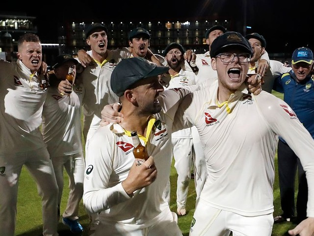 Steve Smith accused of mocking Jack Leach during Australia's Ashes celebrations
