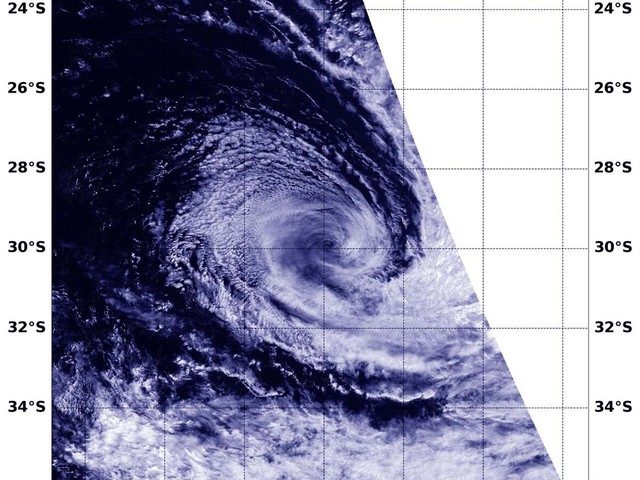 NASA catches Tropical Cyclone Gelena's post-tropical transition