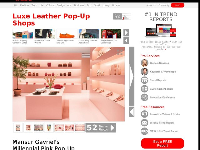 Luxe Leather Pop-Up Shops - Mansur Gavriel's Millennial Pink Pop-Up is Filled with Leather Goods (TrendHunter.com)