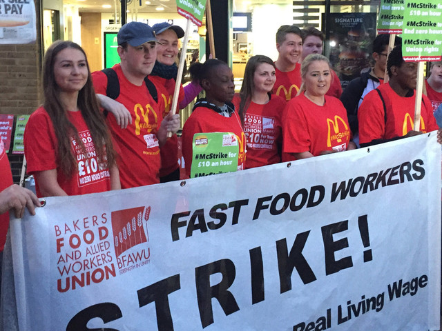 McDonald's Strike Sees Workers Walk Out Over Pay, Conditions And Zero-Hours Contracts