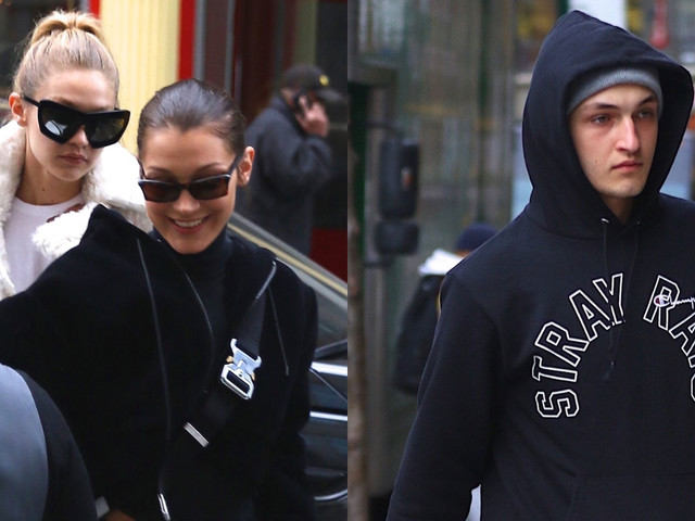 Gigi, Bella, & Anwar Hadid Hang Out Ahead of the Holidays