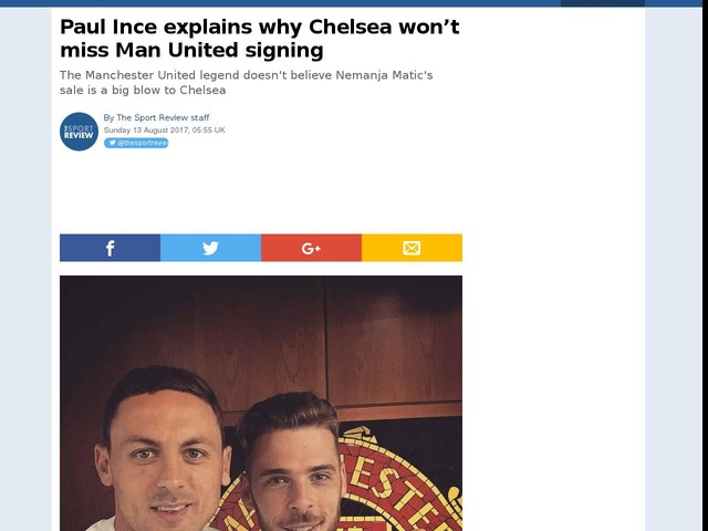 Paul Ince explains why Chelsea won't miss Man United signing
