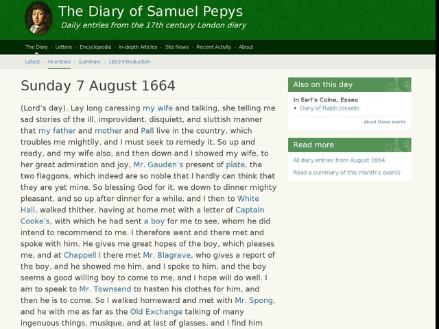 Sunday 7 August 1664