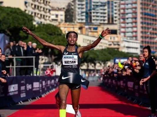 Hassan and Wanders both set 5km world records in Monaco even though they are not the fastest in history