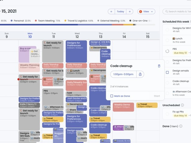 Reclaim is a GPS for your work schedule