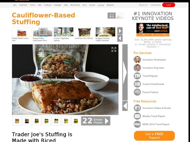 Cauliflower-Based Stuffing - Trader Joe's Stuffing is Made with Riced Cauliflower Instead of Bread (TrendHunter.com)