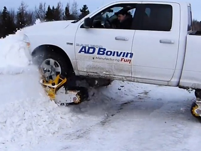 This add-on will make your truck a snowmobile monster