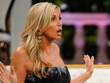 Camille Grammer Suffers Wardrobe Malfunction On 'RHOBH': Dress Falls Off During Reunion