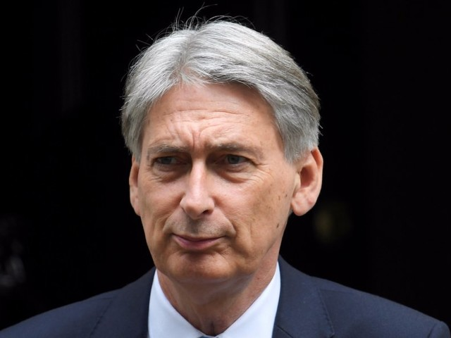 Philip Hammond says the British economy is already suffering due to Brexit