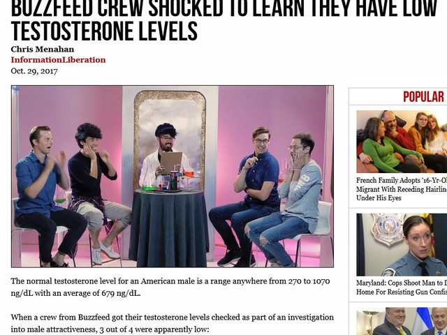Buzzfeed crew shocked to learn they're a bunch of pussified commie soyboys.