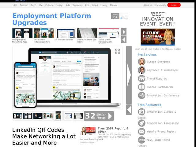 9b7b8ad925ce Employment Platform Upgrades - LinkedIn QR Codes Make Networking a Lot  Easier and More Streamlined (TrendHunter.com)