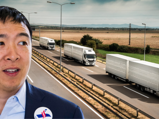 Andrew Yang is promising to save truck drivers from their demise — but truckers can't even agree if he's right about their future
