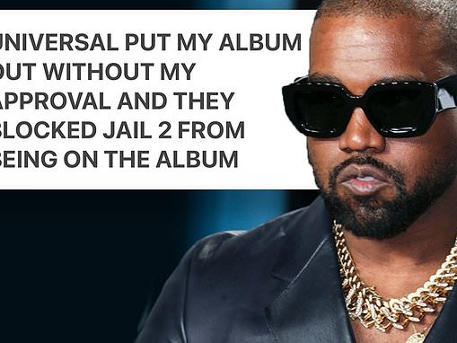 Kanye West says new album Donda was released WITHOUT his approval by record label Universal